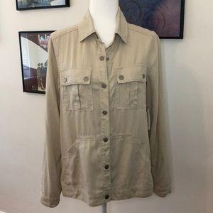 Anthro Level 99 Linen Shirt Jacket